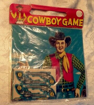 Vintage Party Game,, Cowboy Game from the 1950's.