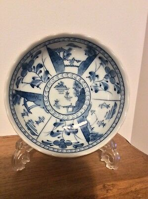 Oriental Chinese /Japanese Blue and White Shallow Dish
