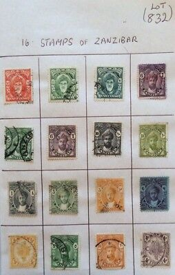 16 Stamps Of Zanzibar A Mixed Collection (Lot832)