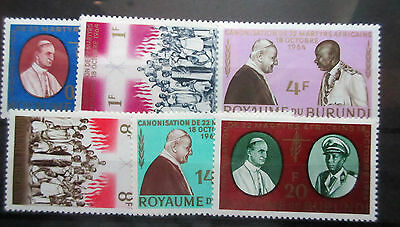 Burundi 1964 Canonization of 22 African Martyrs Set. MNH.