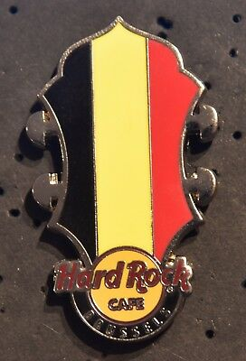 Hard Rock Cafe Brussels Core Headstock Flag Series 2014 pin