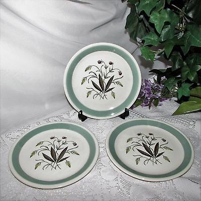 VINTAGE ALFRED MEAKIN HEDGEROW BREAD PLATES CROWN GOLDENDALE Set of 3 ENGLAND