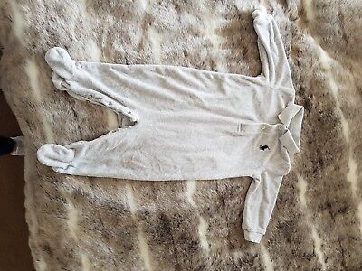 baby boys ralph lauren baby grow all in one suit grey age 6 months