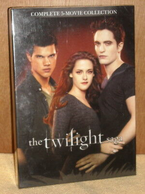 The Twilight Saga: Complete 5-Movie Collection (DVD, 2016, 2-Disc Set) NEW vamps