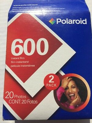 Polaroid 600 Instant Film NEW- (2) Two Packs 20 Photos - Unopened Factory Sealed