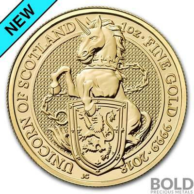 2018 Gold Great Britain Queen's Beasts (The Unicorn) - 1 oz