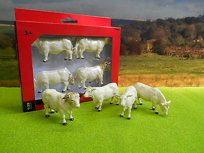 Britains Pack Of Four Charolais Cows Cattle 1/32 40962 Brand New