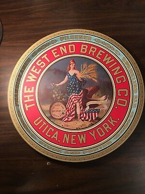 Classic Beer Tray from West End Brewing, Utica, Mew York
