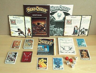Hero Quest: Game instructions and accessories lot (MB/Games workshop) 1989