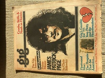 GIG MAGAZINE  May 1977 LED ZEPPELIN JIMMY PAGE Cover, + TOM PETTY Fleetwood Mac