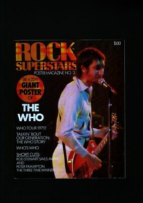 Rock Superstars Poster Mag #3-The Who-Roger Daltrey Nm