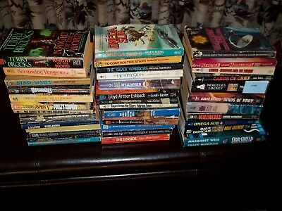 lot of 37 vintage science fiction sci fi fantasy books 70s assorted authors