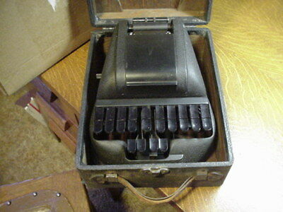 Vintage Stenotype Machine with Wood Case - Court Stenographer - Stenotype Co.