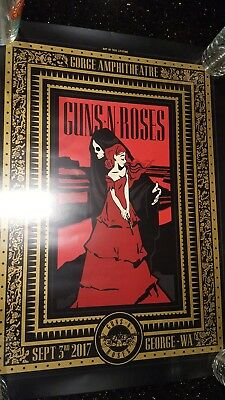 Guns n Roses concert poster lithograph Sept 3rd Seattle, WA from The Gorge