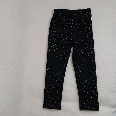 Jumping Beans Girls Black with Gold Polka Dots Pants Size 4