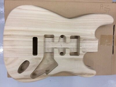 """New Electric S Guitar Body, Solid Paulownia, 41Mm Thick, 25.5"""" Scale,  Az-Sp"""