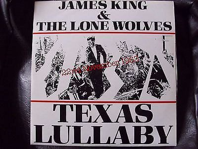 """(Rare) James King & The Lone Wolves 12"""" Vinyl Record Texas Lullaby"""