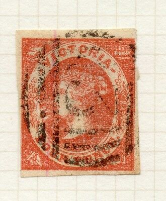 AUSTRALIA VICTORIA 1857 QV Imperf Early Issue Fine Used 4d. 195174