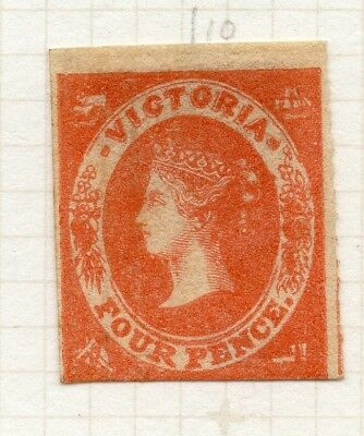 AUSTRALIA VICTORIA 1857 QV Imperf Early Issue Fine Mint unused 4d. 195176
