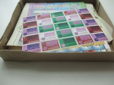 ESTATE: World sheets in box Mint & Used noted 1971 Christmas Sheet MNH   (1794)