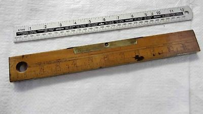 "Vintage 12"" Boxwood & Brass Masons Spirit Level by W MARPLES & SON Old Tool"
