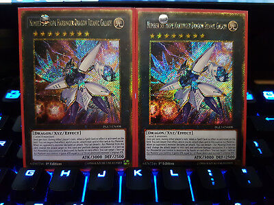 1x Number 38: Hope Harbinger Dragon Titanic Galaxy - PGL3-EN008 Gold Secret Rare