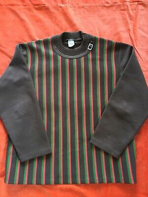 Mod 1960s Stripy Top Mens Or Ladies Size 16-18 Or Chest 40-42