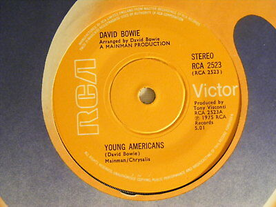 """DAVID BOWIE Young Americans Ex+ RCA 1975 UK 7"""""""