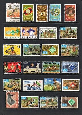 Scouts on Stamps. 48 Different.