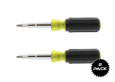 Klein Tools 32500 11-in-1 Screwdriver/Nut Driver, 2-Pack