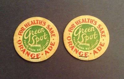 Green Spot Orange-Ade Milk Bottle Top