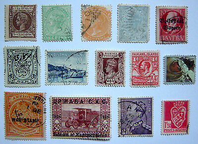A Small Assortment Of 14 Used Stamps.