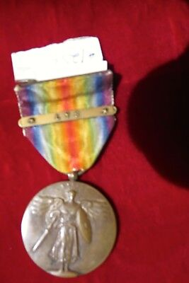 "Wwi Victory Medal..single Bar ""lys"""