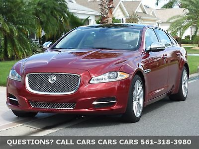 2012 Jaguar XJ XJL PORTFOLIO-ONLY 24K MILES-LIKE 13 14 15 16 FLORIDA IMMACULATE- AUTOCHECK-FULLY EQUIPPED-PANO-SIRIUS-ABSOLUTELY NONE NICER