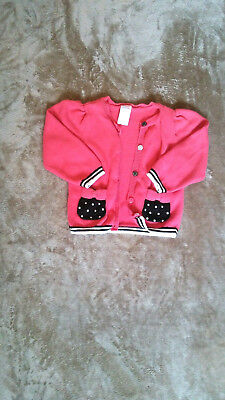 Pre-owned Baby Girls Pink Cardigan Sweater 18-24 Months