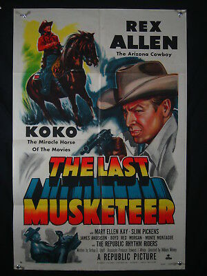 The Last Musketeer-Mary Ellen Kay-Orig Poster-1952 G/vg