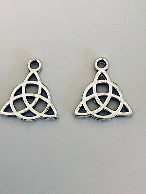 Tibetan Alloy Antique Silver Wicca Pagan Triquetra Celtic Knot Trinity Charms