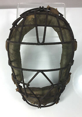 Vintage Catcher's Mask Wire and Leather Spitters Mask #2
