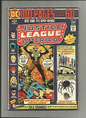 Justice League Of America #112 Dc 100 Page 5.5-6.5 Free Comb Shipping