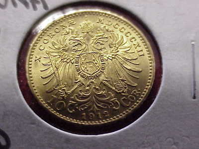 Excellent* 1912 Austrian 10 Corona Gold Coin ~ Looks BU ~ NICE ~ NO RESERVE !!!