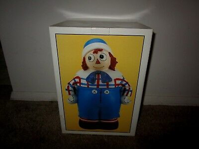 Raggedy Andy Cookie Jar-1993 Certified International Corp-Complete With Box
