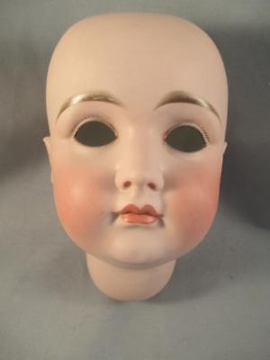 Antique German Bisque Doll Early Closed Mouth Kestner Head Only Large Size 18
