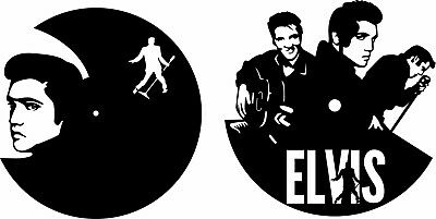DXF CDR and EPS File For CNC Plasma or Laser Cut - Elvis Clocks