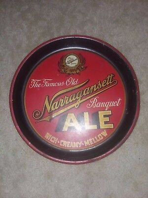 Famous Narragansett Beer Tray , Banquet Ale Rich Creamy Mellow