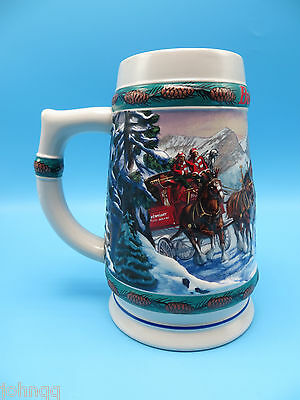 Budweiser 1993 Holiday Stein Collection - Special Delivery by Nora Koerber