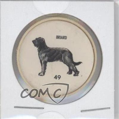 1961 Humpty Dumpty Famous Dogs of the World Coins #49 Briard Non-Sports Card 1s8