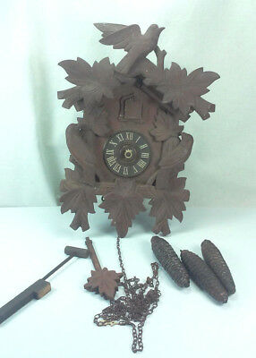 Antique Germany Cuckoo Clock Mfg Co Black Forest 8 Day Cuckoo Clock Parts Repair