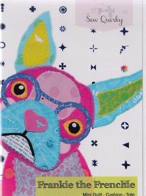 PATTERN - Frankie the Frenchy - modern funky dog applique PATTERN - Sew Quirky
