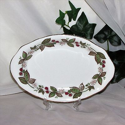 Royal Standard Vintage Oval Dish Raspberries Tray Candy Fine Bone China England
