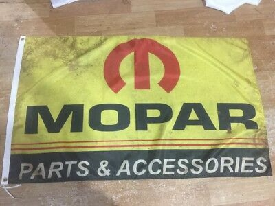 Yellow MOPAR Parts & Accessories Car Banner Flag 3X5ft Sign Garage Advertising
